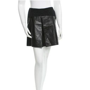 TIMO WEILAND Wool & Leather Skirt w/ Tags
